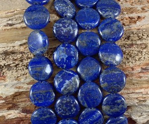 Natural Lapis 15mm Coin