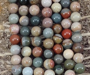 Polychrome Jasper 10mm Round