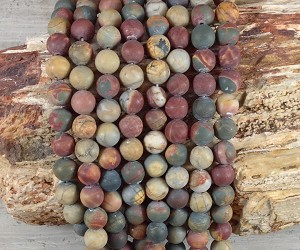 Red Creek Jasper 8mm Matte Round