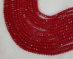 6mm Crystal Solid Red