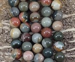 Polychrome Jasper 12mm Round