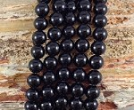 Black Agate aka Onyx 10mm Round