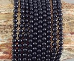 Black Agate aka Onyx 6mm Round