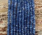 Blue Kyanite 5.5-6 mm Faceted Rondelle