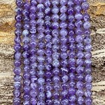 Dog Tooth Amethyst 6mm Round