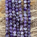 Dog Tooth Amethyst 8mm Round