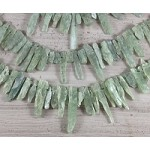Green Kyanite Top Drilled Rough Points
