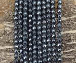 Hematite Faceted Round 6mm