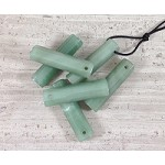 Green Aventurine Hexagon Tube Pendant