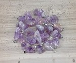 Lavender Amethyst Tumble Polished Nugget Pendant