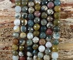 Ocean Jasper 8mm Faceted Round