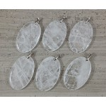 Crystal Quartz Oval Pendant