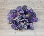 Amethyst Tumble Polished Nugget Pendant