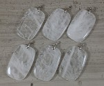 Crystal Quartz Rectangle Pendant