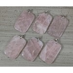 Rose Quartz Rectangle Pendant