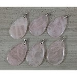 Rose Quartz Teardrop Pendant
