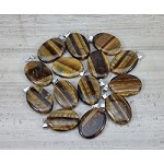 Yellow Tiger Eye 22x30mm Oval Pendant
