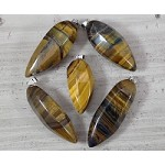 Yellow / Blue Tiger Eye Thick Pendulum Pendant